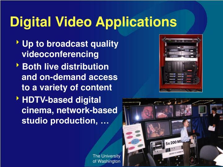 Digital Video Applications
