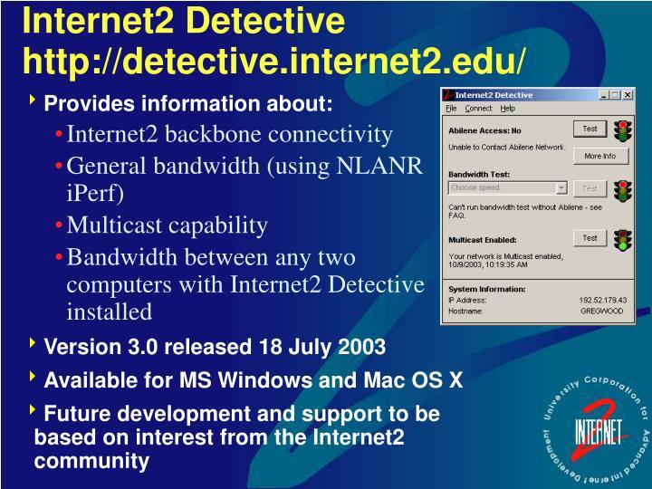Internet2 Detective