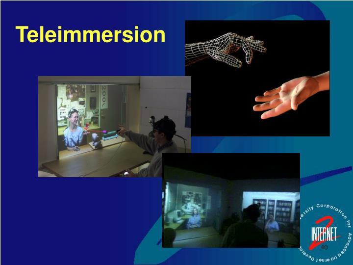 Teleimmersion