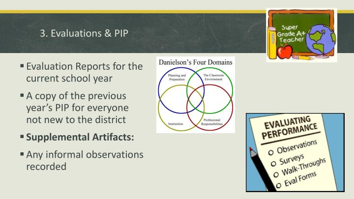 3. Evaluations & PIP