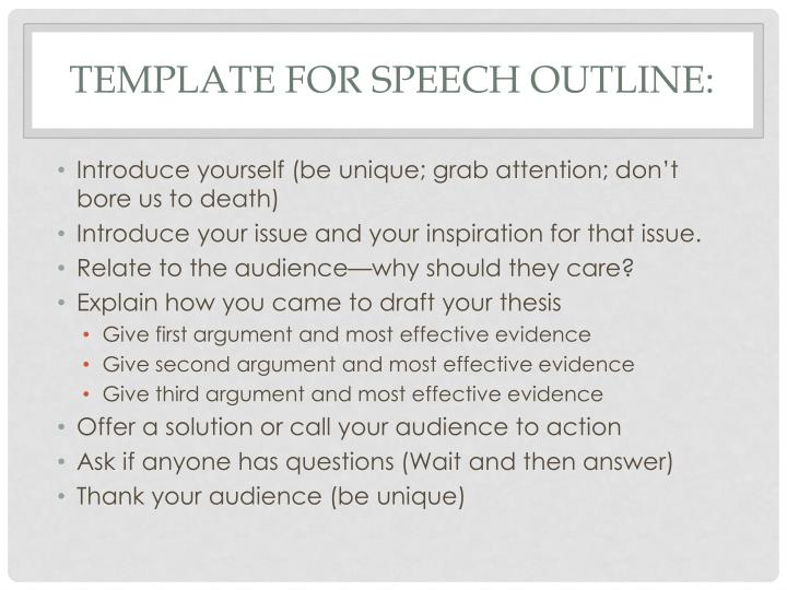 euthanasia speech outline Speech outline (persuasive speech) title : euthanasia: to live and let die outline of persuasive speech essay.