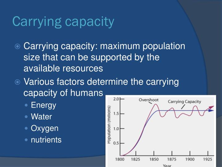 the idea of carrying capacity The ideal use of technology -- the use that would extend earth's carrying capacity -- is to find ways to make fewer resources stretch much farther take, for instance, the earth's energy resources ideally, we would've switched en masse to technologies like solar power and electric cars long ago.