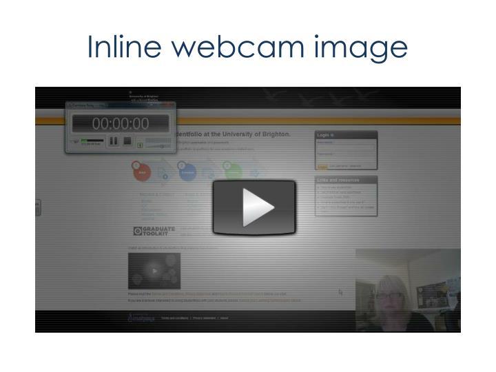 Inline webcam image
