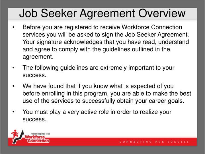 Job Seeker Agreement Overview