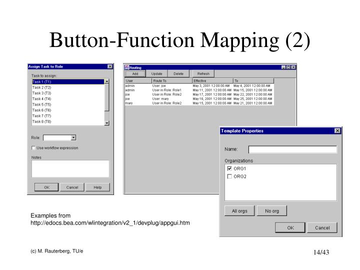Button-Function Mapping (2)