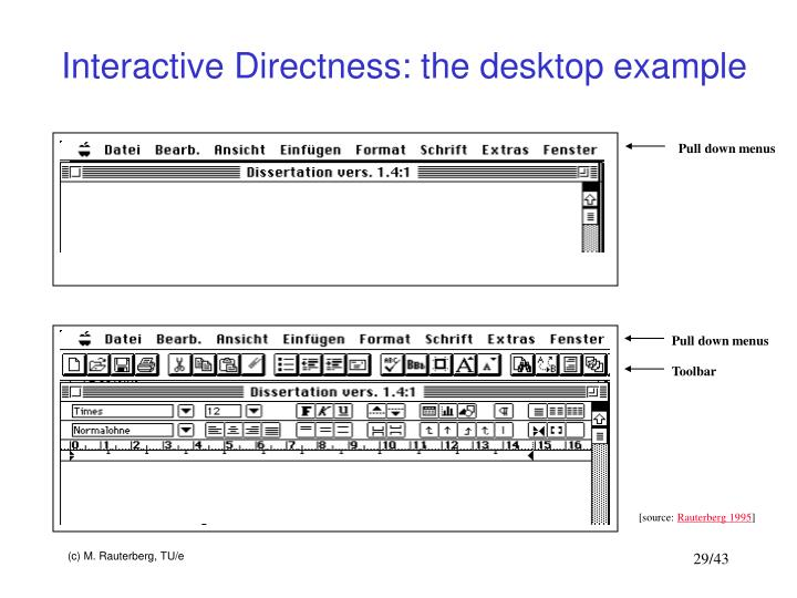 Interactive Directness: the desktop example