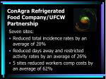 conagra refrigerated food company ufcw partnership