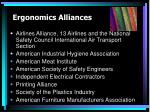 ergonomics alliances