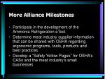 more alliance milestones