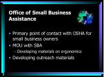 office of small business assistance