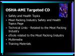 osha ami targeted cd