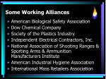 some working alliances