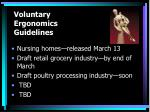 voluntary ergonomics guidelines