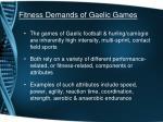 fitness demands of gaelic games