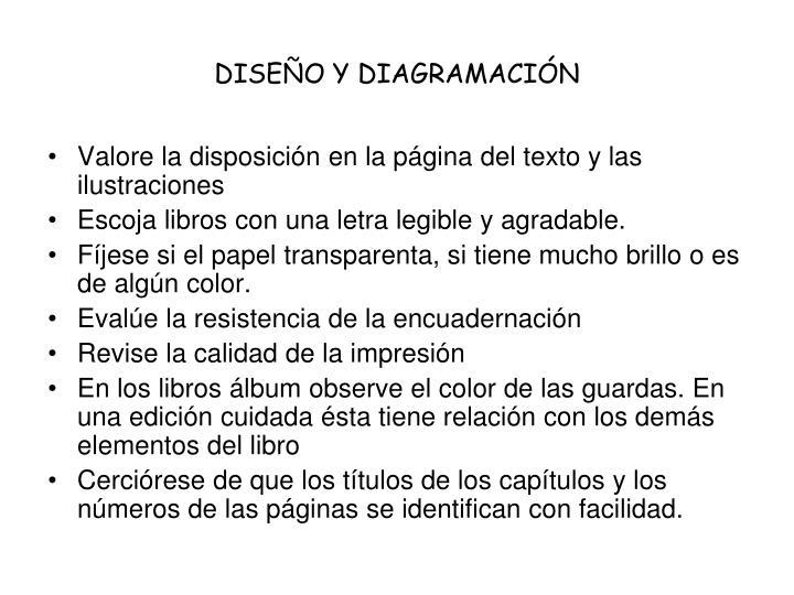 DISEÑO Y DIAGRAMACIÓN