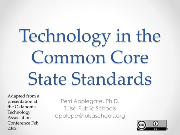 technology in the common core state standards n.