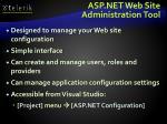 asp net web site administration tool