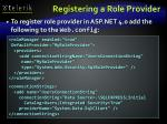 registering a role provider