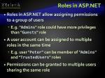 roles in asp net