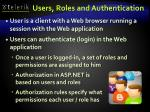 users roles and authentication