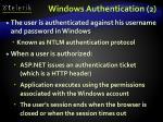windows authentication 2