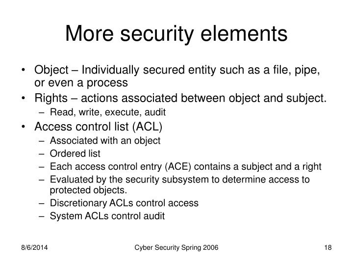 More security elements