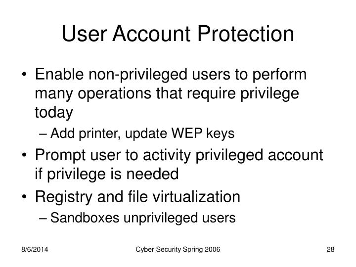 User Account Protection