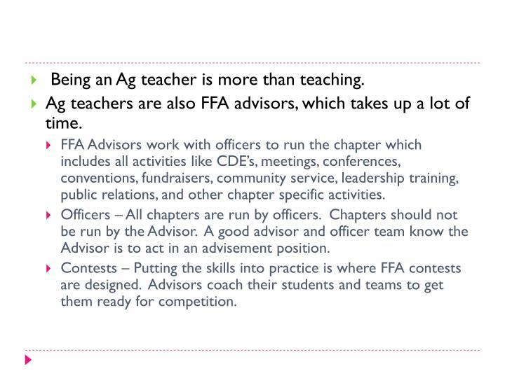 Being an Ag teacher is more than teaching.