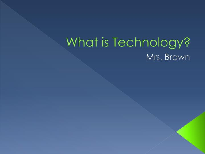 what is technology n.