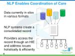 nlp enables coordination of care