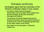 chinese continuity