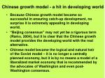 chinese growth model a hit in developing world