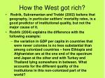 how the west got rich5