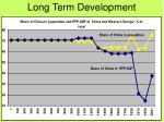 long term development