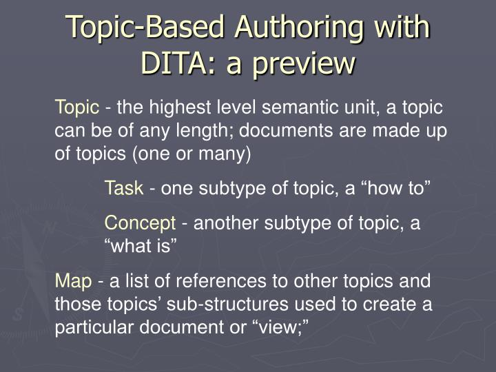 Topic-Based Authoring with