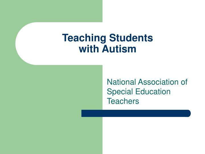 teaching students with autism n.