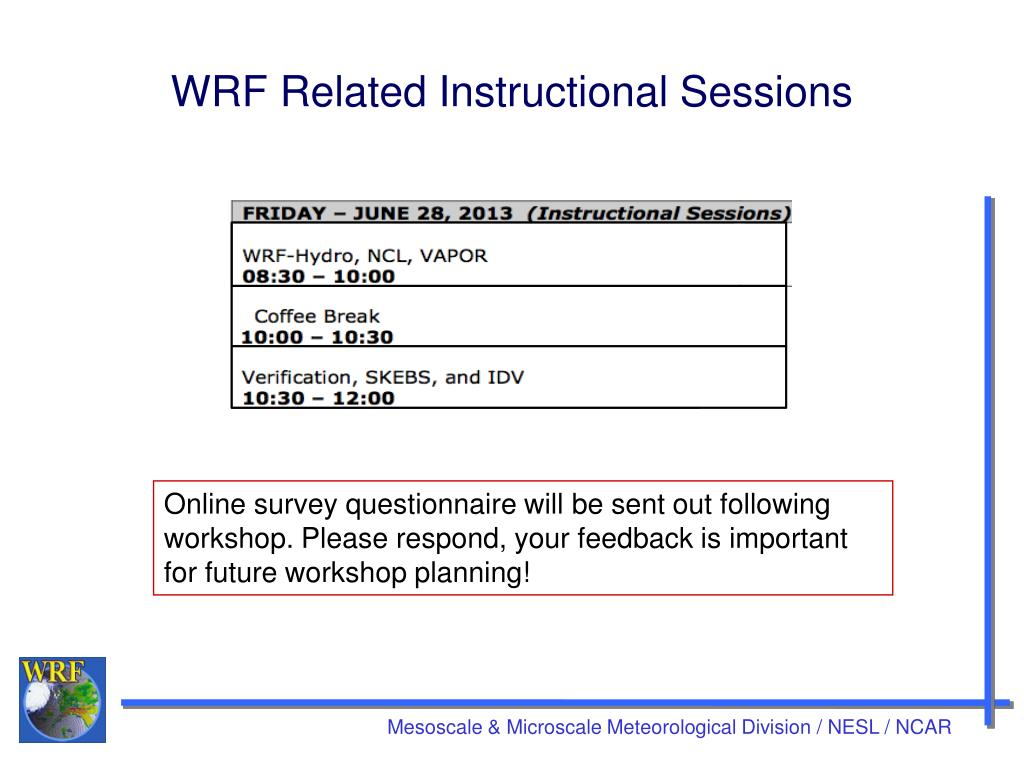 PPT - 14 th WRF Users Workshop PowerPoint Presentation - ID