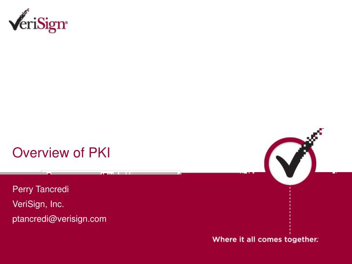 overview of pki n.