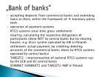 bank of banks