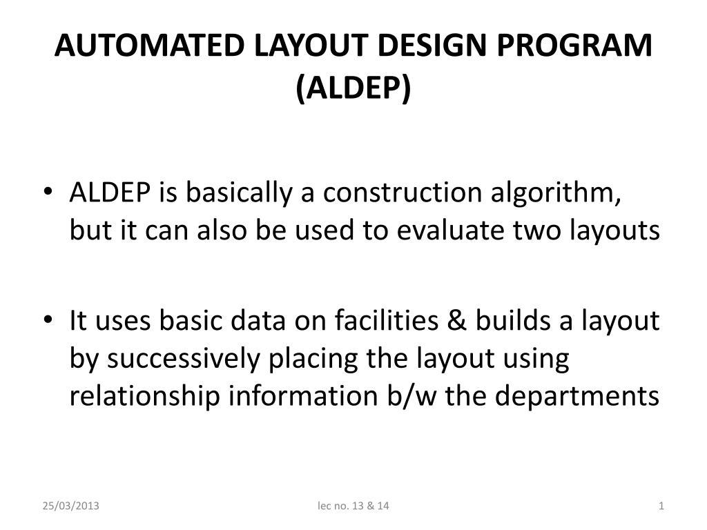 ppt automated layout design program aldep powerpoint