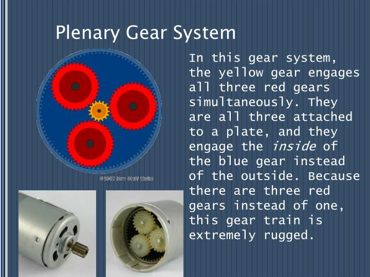 Plenary Gear System