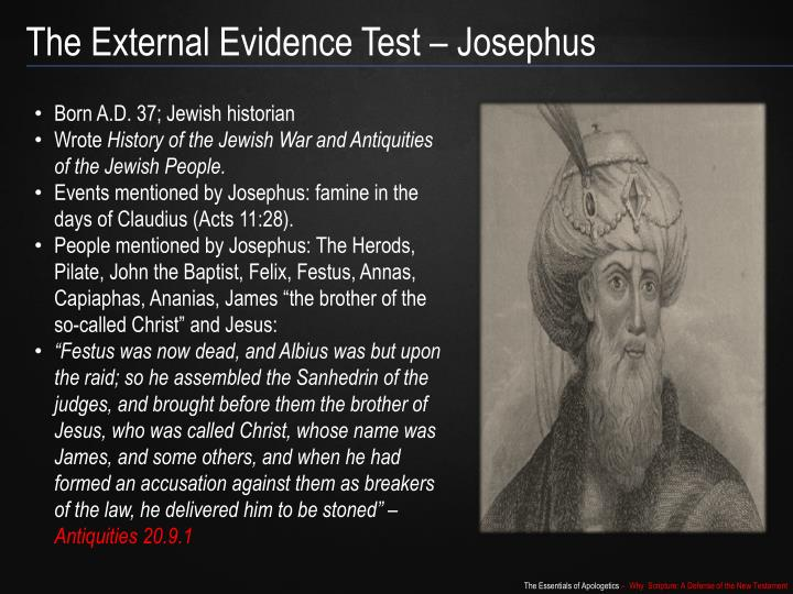 The External Evidence Test – Josephus