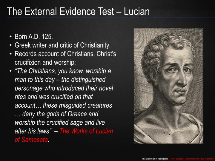 The External Evidence Test – Lucian