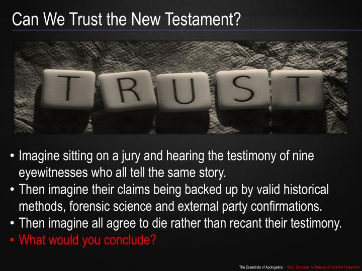 Can We Trust the New Testament?