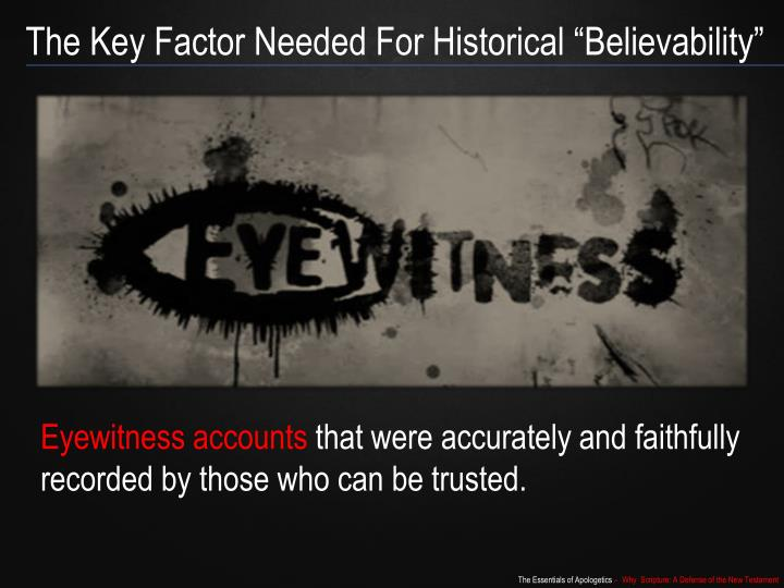 "The Key Factor Needed For Historical ""Believability"""