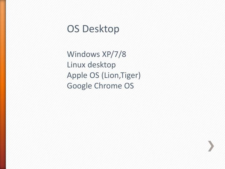 OS Desktop