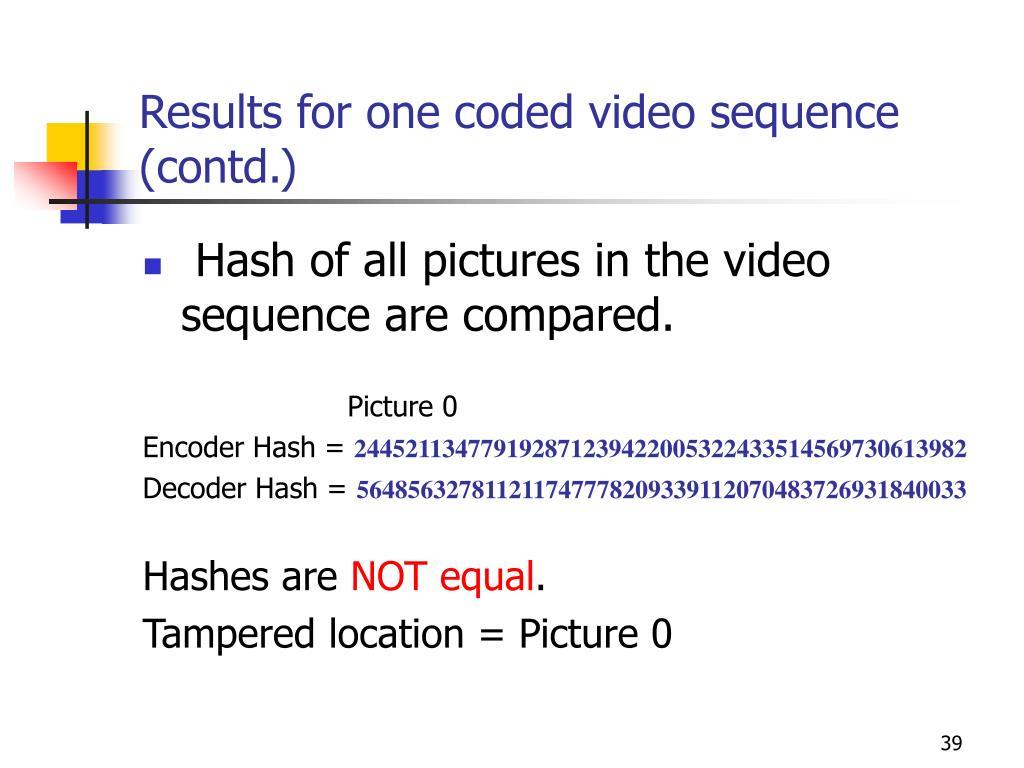 PPT - A video authentication scheme for H 264/AVC Main profile