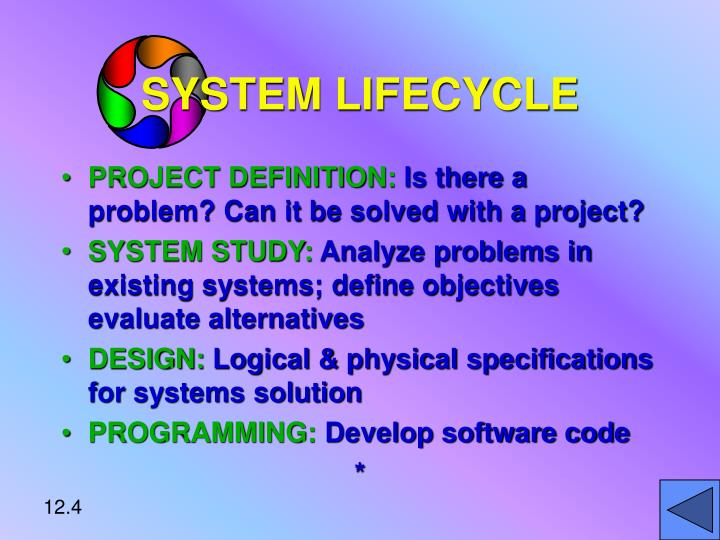 SYSTEM LIFECYCLE