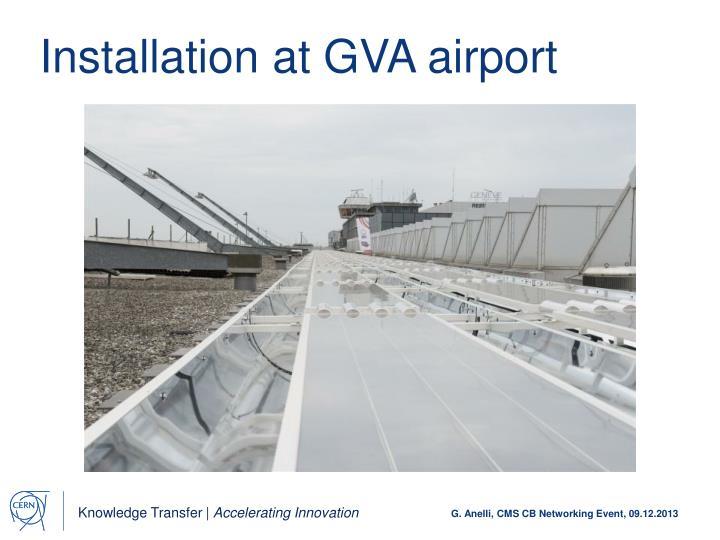 Installation at GVA airport