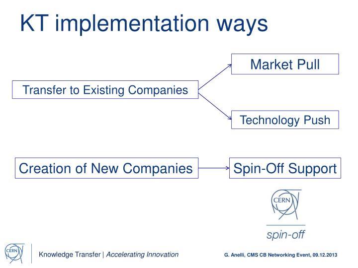 KT implementation ways